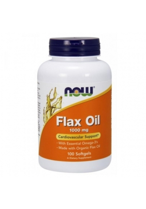 Flax Oil 1000 мг 100 капс (NOW)