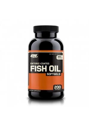 Enteric-Coated Fish Oil Softgels 200 капс (Optimum Nutrition)
