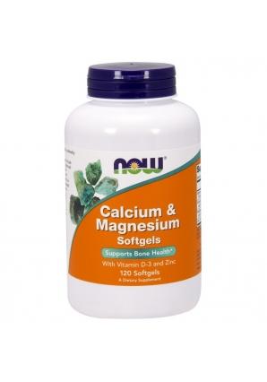 Calcium & Magnesium +D 120 капс (NOW)