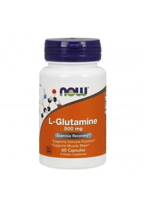 L-Glutamine 500 мг 60 капс (NOW)
