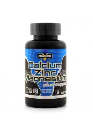 Calcium Zinc Magnesium 90 табл (Maxler)