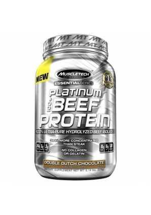 Platinum 100% Beef Protein 908 гр (MuscleTech)