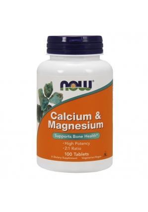 Calcium & Magnesium 100 табл (NOW)