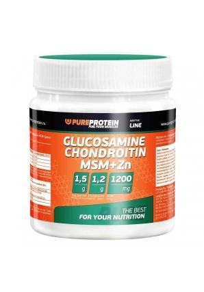 Glucosamine  Chondroitin  MSM + Zn 100 гр (Pure Protein)