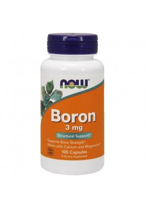 Boron 3 мг 100 капс (NOW)