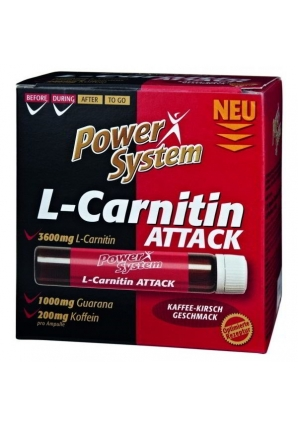 L-Carnitin Attack 3600 мг 20 амп (Power System)