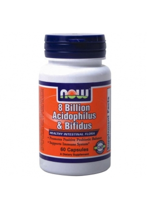 8 Billion Acidophilus and Bifidus 60 капс (NOW)