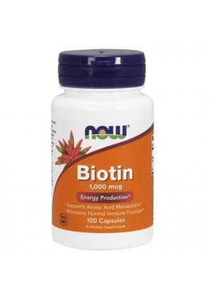 Biotin 1000 мкг 100 капс (NOW)