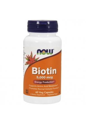Biotin 5000 мкг 60 капс (NOW)