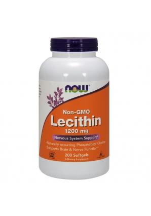 Lecithin NON GMO 1200 мг 200 капс (NOW)