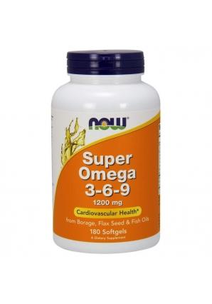 Super Omega 3-6-9 1200 мг 180 капс (NOW)