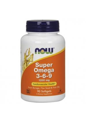 Super Omega 3-6-9 1200 мг 90 капс (NOW)