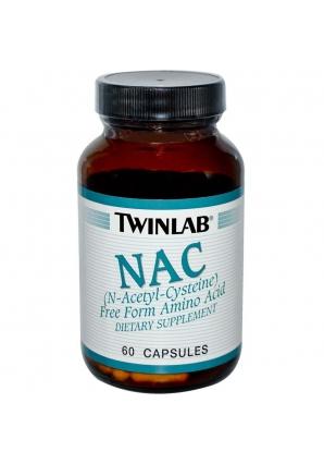 NAC (N-Acetyl-Cysteine) 60 капс (Twinlab)