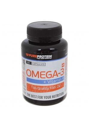 OMEGA-3 + Vitamin E 60 капс (Pure Protein)
