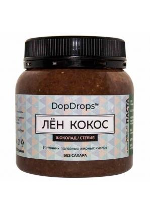 Паста Лён Кокос, шоколад, стевия 250 гр (DopDrops)