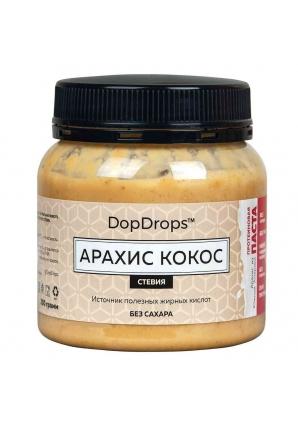 Протеиновая паста Арахис Кокос, стевия 250 гр (DopDrops)