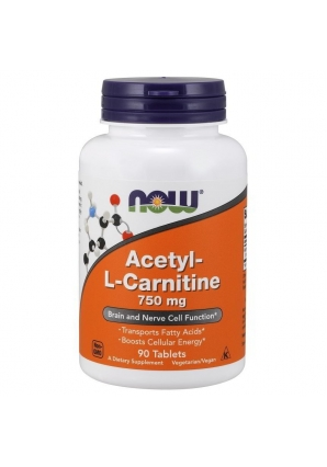 Acetyl-L-Carnitine 750 мг 90 табл (NOW)