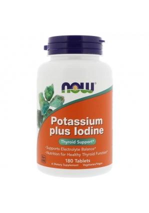 Potassium Plus Iodine 180 табл (NOW)