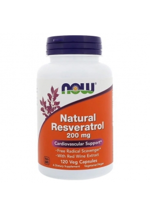 Natural Resveratrol 200 мг 120 капс (NOW)