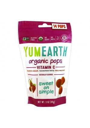 Organic Pops Vitamin C 14 леденцов (YumEarth)