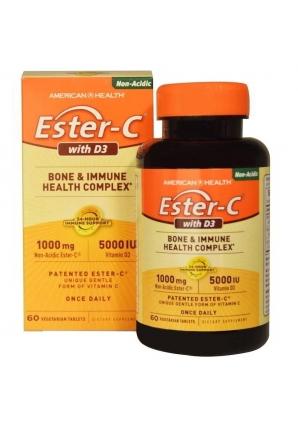Ester-C with D3 60 табл (American Health).