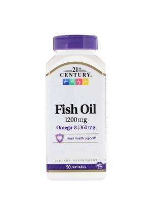 Fish Oil 1200 мг 90 капс (21st Century)