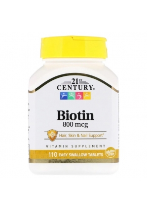 Biotin 800 мкг 110 табл (21st Century)