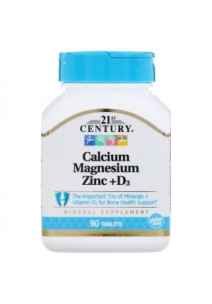 Calcium Magnesium Zinc + D3 90 табл (21st Century)