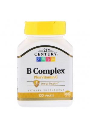 B Complex plus Vitamin C 100 табл (21st Century)