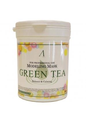 Маска альгинатная с экстрактом зеленого чая успокаивающая Green Tea Modeling Mask 240 гр - банка (Anskin)