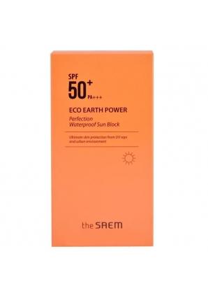 Солнцезащитный крем водостойкий Eco Earth Power Perfection Waterproof Sun Block SPF 50+ PA+++ 50 гр (The Saem)