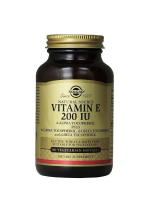 Vegan Natural Source Vitamin Е 200 МЕ 100 капс (Solgar)