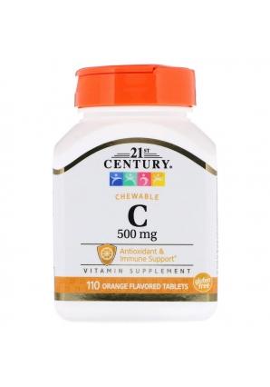 Vitamin C 500 мг 110 жев.табл (21st Century)
