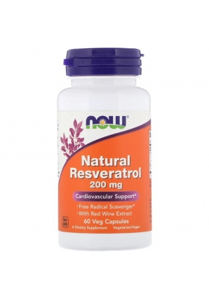 Natural Resveratrol 200 мг 60 капс (NOW)
