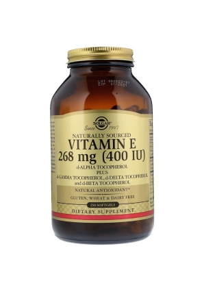 Naturally Sourced Vitamin E 268 мг 250 капс (Solgar)