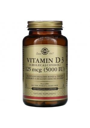 Vitamin D3 125 мкг (5000 МЕ) 240 вег. капс (Solgar)