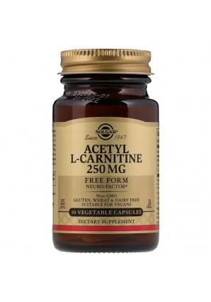Acetyl-L-Carnitine 250 мг 30 капс (Solgar)