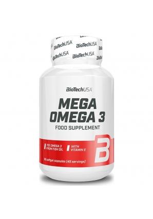Mega Omega 3 - 90 капс (BioTechUSA)