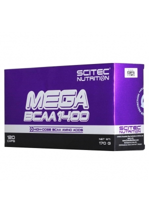 Mega BCAA 1400 120 капс (Scitec Nutrition)