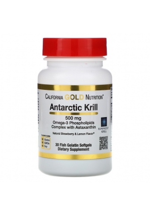 Antarctic Krill 500 мг 30 капс (California Gold Nutrition)