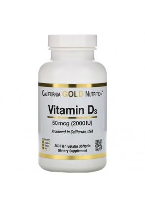 Vitamin D3 50 мкг (2000 МЕ) 360 капс (California Gold Nutrition)
