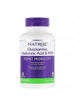 Glucosamine, Hyaluronic Acid & MSM 90 капс (Natrol)