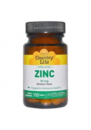 Zinc 50 мг 100 табл (Country Life)