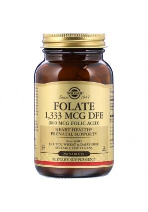 Folate 800 мкг 250 табл (Solgar)