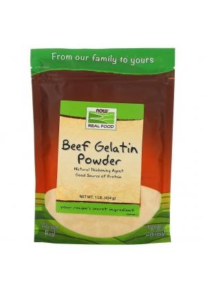 Beef Gelatin Powder 454 гр 1lb (NOW)