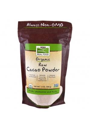 Organic Raw Cacao Powder 340 гр (NOW)