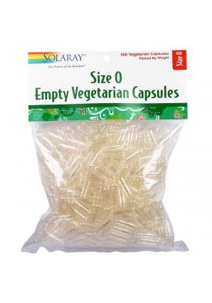 """Пустые вегетарианские капсулы """"0"""" 500 шт (Solaray)"""