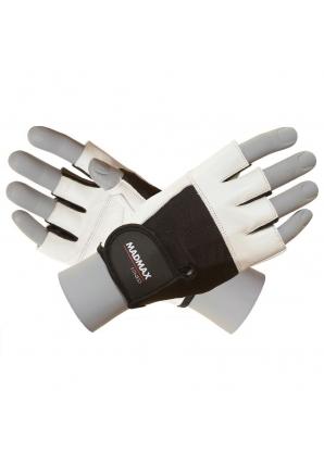 Перчатки Fitness MFG444 бело-черные (Mad Max)