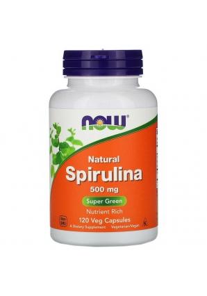 Natural Spirulina 500 мг 120 капс (NOW)