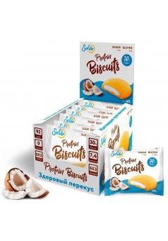 Протеиновое бисквитное печенье Protein Biscuits 40 гр 10 шт (Solvie)